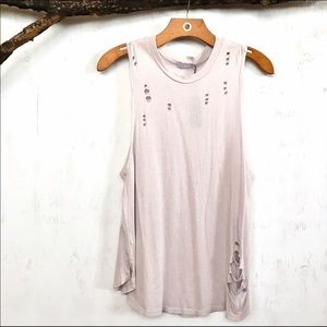 Distressed Muscle Tee